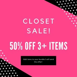 50% Off 3+ Items